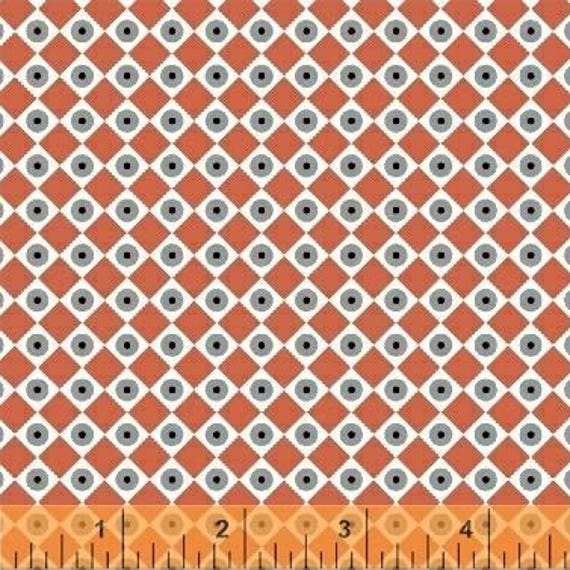 Uppercase Volume 2 by Janine Vangool for Windham Fabrics - Dot the Eyes in Red - Fat Quarter