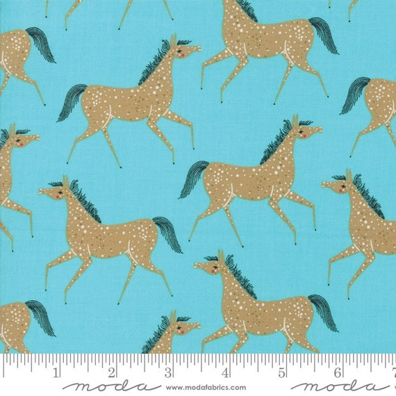 Farm Charm -- Pony Party in Pond (48293 15) by Gingiber for Moda -- Fat Quarter