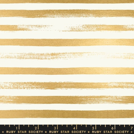 Pop and Zip. -- Zip in Metallic Gold (RS100524M) by Ruby Star Society for Moda -- Fat Quarter