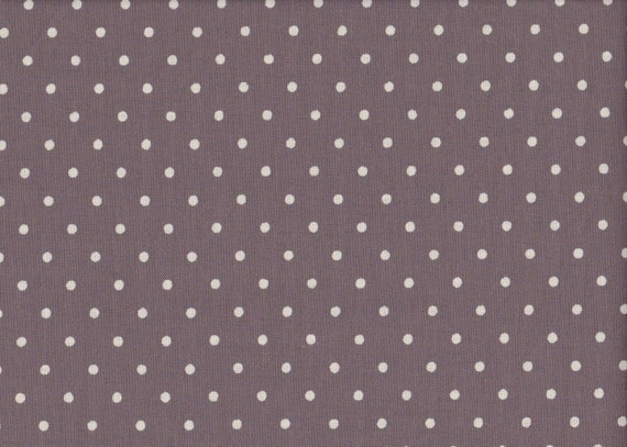 Japanese cotton fat quarter by Kei - Sugar Dew Dots in Grey