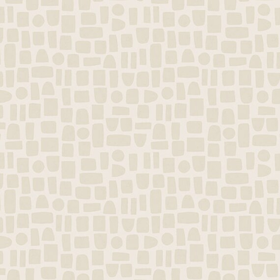 Perennial by Sarah Golden for Andover Fabrics - Fat Quarter of Scattered Shapes in Eggshell
