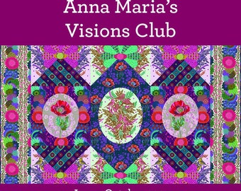 Visions Quilt Club BOM Quilt Kit   Anna Maria Horner Bright Eyes