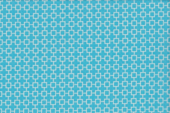 Japanese cotton fat quarter by Kei - Geosquares in light blue
