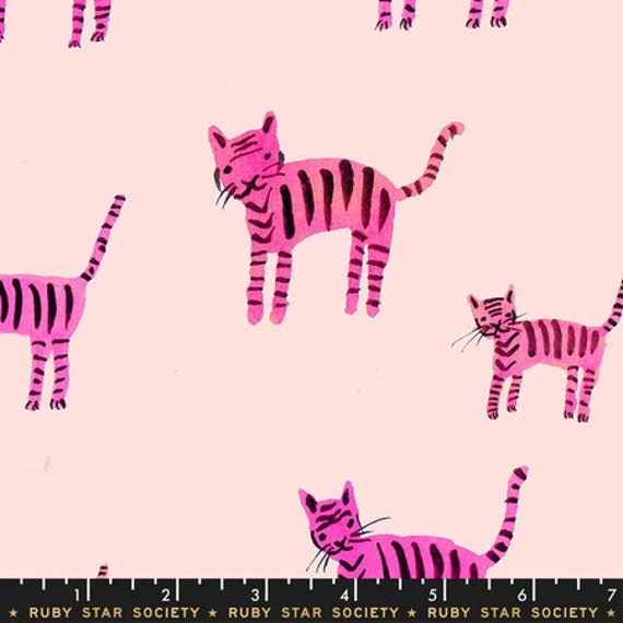 Darlings -- Tigers in Hot Pink (RS5021-12) by Ruby Star Society for Moda -- Fat Quarter