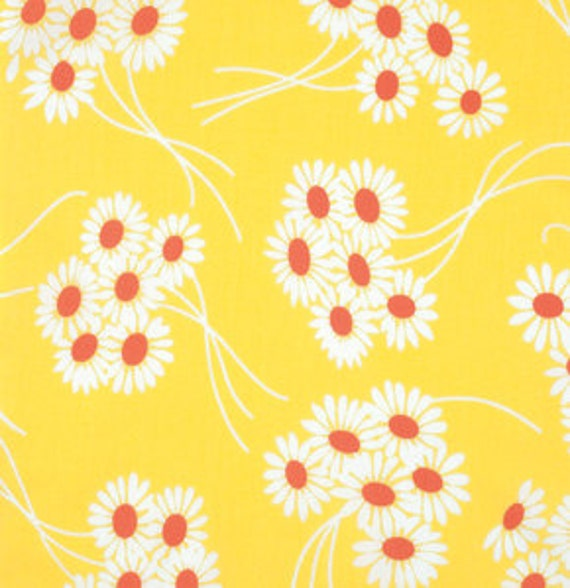Katie Jump Rope by Denyse Schmidt for Free Spirit Fabrics -  Daisy Bouquet in Sunflower