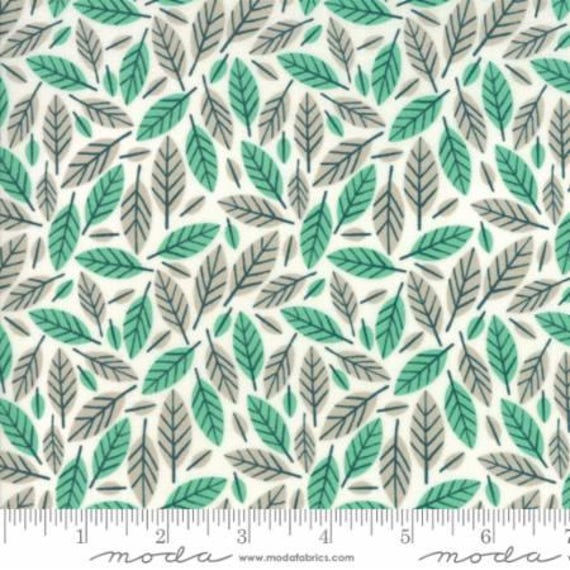 Moda Big Sky Azure Beech Leaf (1670211) by Annie Brady -- Fat Quarter
