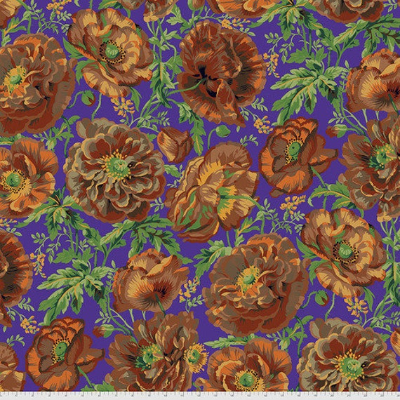 Kaffe Fassett Collective August 2021 -- Fat Quarter of Philip Jacobs Dorothy in Brown
