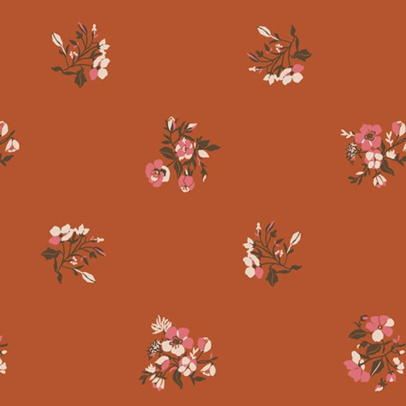 Art Gallery Kismet Burgeon Autumnal in Rayon - Purchase in 25cm Increments