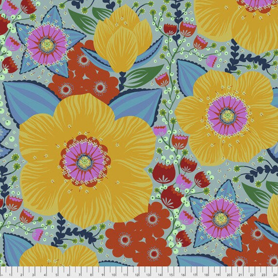 Hindsight by Anna Maria Horner for Free Spirit Fabrics- Fat Quarter of Honorable Mention in Gold