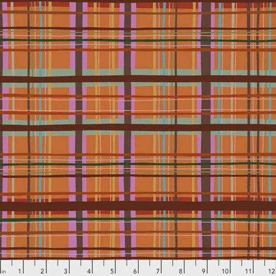 New Vintage by Kathy Doughty for Free Spirit Fabrics - Fat quarter of Plaid in Marmelade