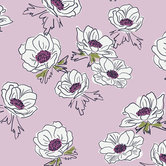 Trouvaille by AGF Studios for Art Gallery Fabrics -  Fat Quarter of Anemone Cascade