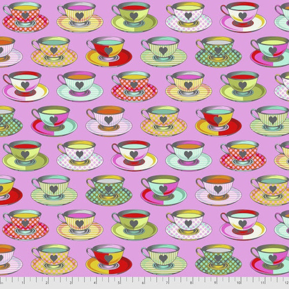 Fat Quarter Tea Time in Wonder - Tula Pink's Curiouser and Curiouser for Free Spirit Fabrics