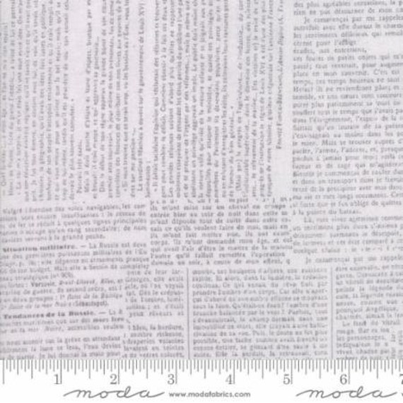 Moda Compositions Newsprint in Grey (3045118) by Zen Chic -- Fat Quarter