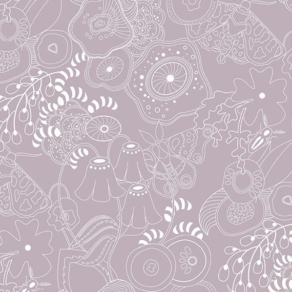 Hopscotch Century Prints by Alison Glass for Andover Fabrics - Fat Quarter of Grow in Whisper