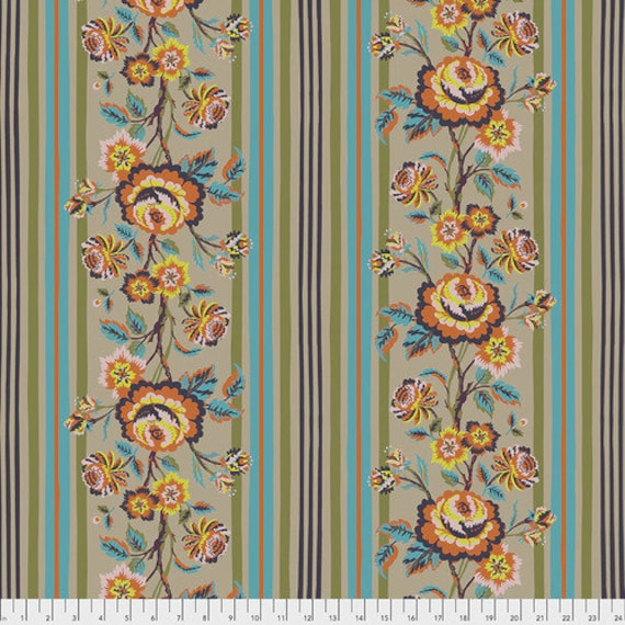 New Vintage by Kathy Doughty for Free Spirit Fabrics - Fat quarter of Vintage Rose in Macaron