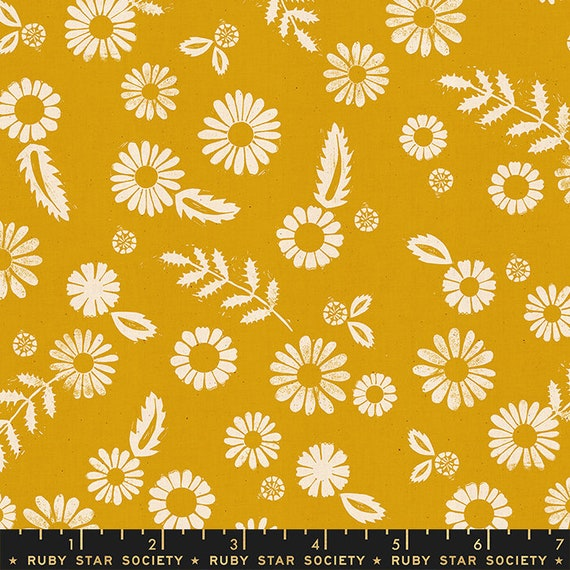 Golden Hour -- Daisy in Goldenrod (RS4017-22) by Ruby Star Society for Moda -- Fat Quarter