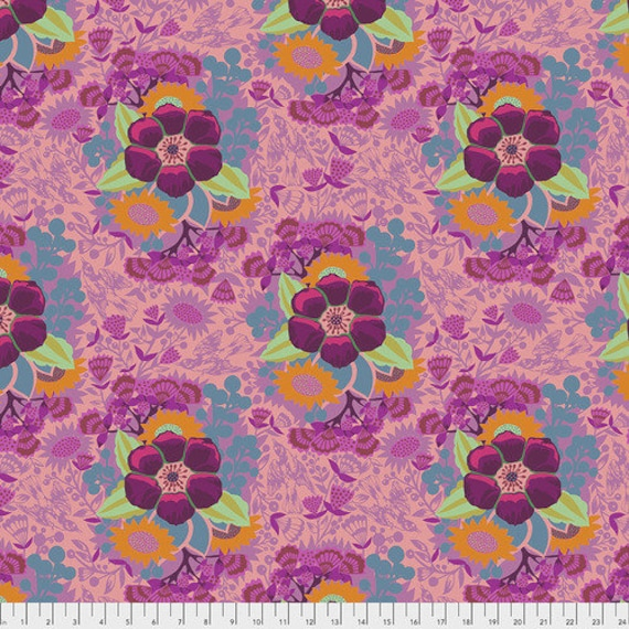 Hindsight by Anna Maria Horner for Free Spirit Fabrics- Fat Quarter of Piecework in Rose