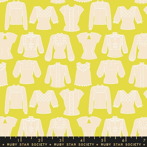 First Light Blouses in Citron  (RS050-15) by Ruby Star Society for Moda -- Fat Quarter
