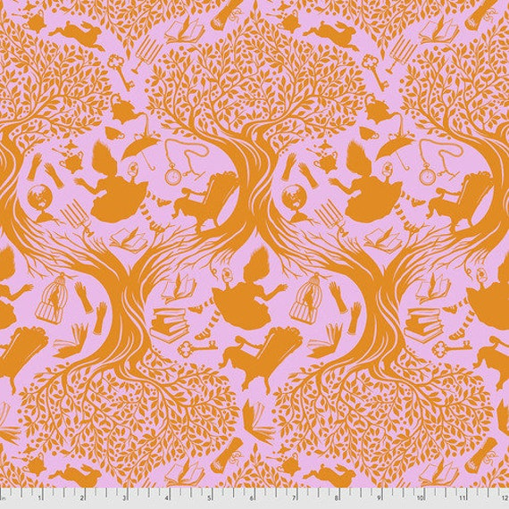 Fat Quarter Down the Rabbit Hole in Wonder - Tula Pink's Curiouser and Curiouser for Free Spirit Fabrics