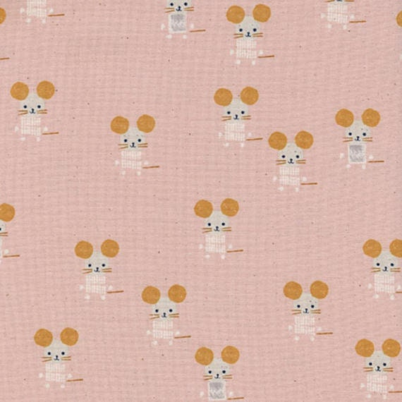 Sunshine --  Little Friends in Pink by Alexia Marcelle Abegg for Cotton and Steel
