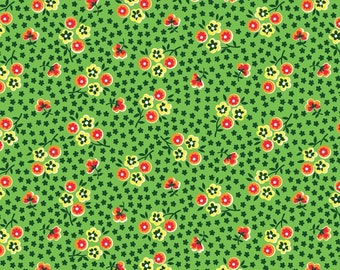 Five and Ten by Denyse Schmidt for Windham Fabrics -- Fat Quarter of Pop Posey in Green (52482-3)