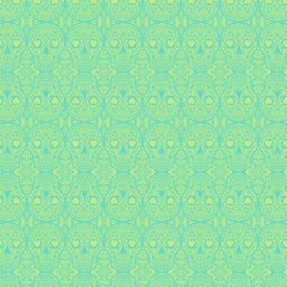 Fat Quarter Sugar Skulls in Mystic  - Tula Pink's De La Luna Fabric for Free Spirit Fabrics