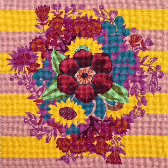 Deposit Only for October/November Delivery of Anna Maria Horner Tapestry Kit -- Centre of Attention