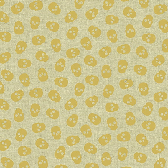 Mixtape by Libs Elliot for Andover Fabrics - Tainted Love in Metallic Gold Linen - Fat Quarter