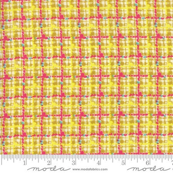 Moda Remix Trellis in Limoncello (1816115) by Jen Kingwell -- Fat Quarter