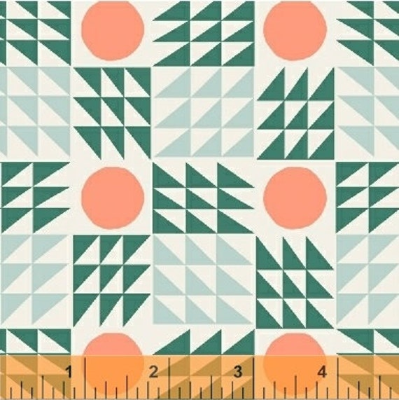 Penelope by Annabel Wrigley for Windham Fabrics - Neo Geo in Green