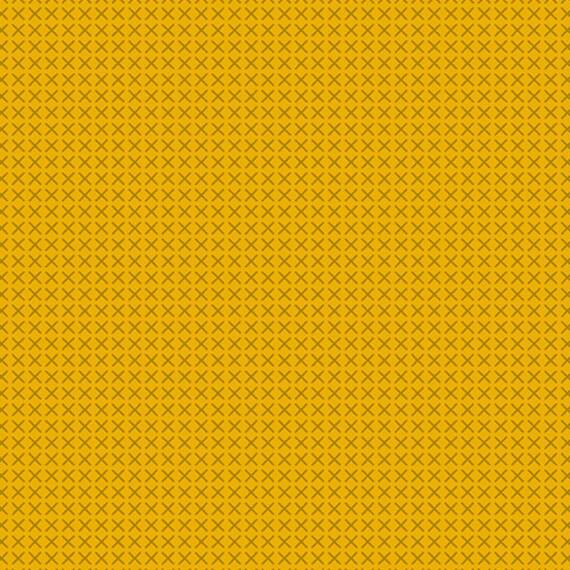 Handiwork by Alison Glass -- Fat quarter of Cross Stitch in Honey