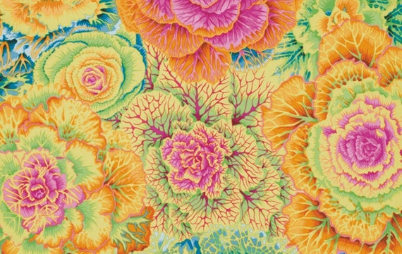 Kaffe Fassett Collective Classic -- Fat Quarter of Philip Jacobs Brassica in Yellow