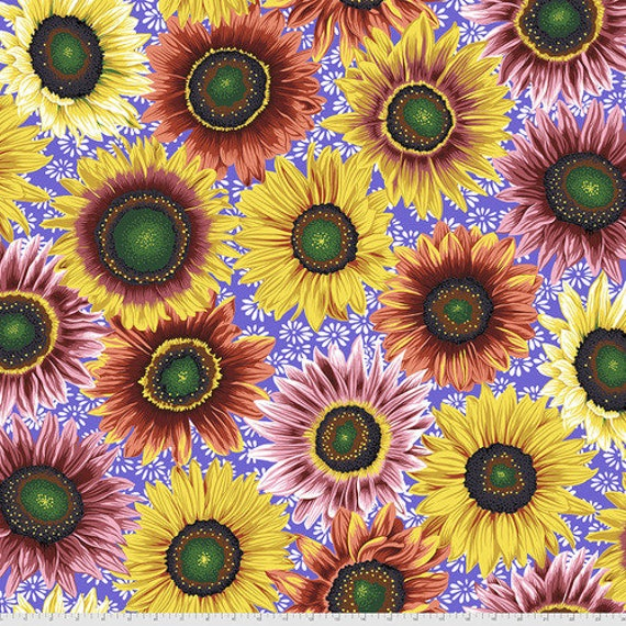 Kaffe Fassett Collective August 2021 -- Fat Quarter of Philip Jacobs Van Gogh in Bright