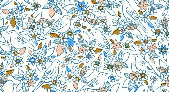 Aviary -- Botanical in Chambray (RS5001-13) by Ruby Star Society for Moda -- Fat Quarter