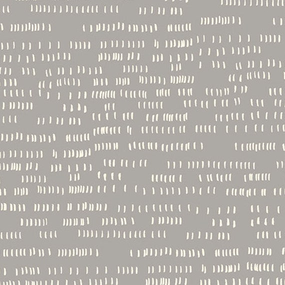 Whiskers and Dash by Sarah Golden for Andover Fabrics - Fat Quarter of Dash in Concrete (A-9173-CL)