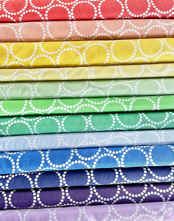 Andover Mini Pearl Bracelets by Lizzy House - Fat Quarter Bundle as Shown in Photo