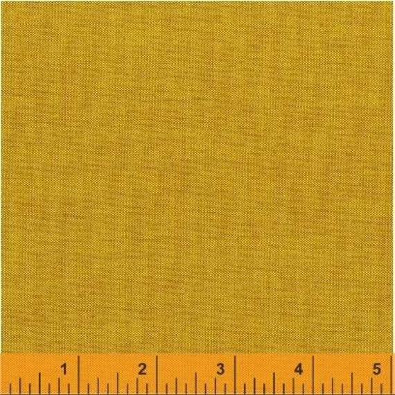 Fat Quarter - Artisan Cotton -Yellow/Copper - Another Point of View for Windham - 40172-9