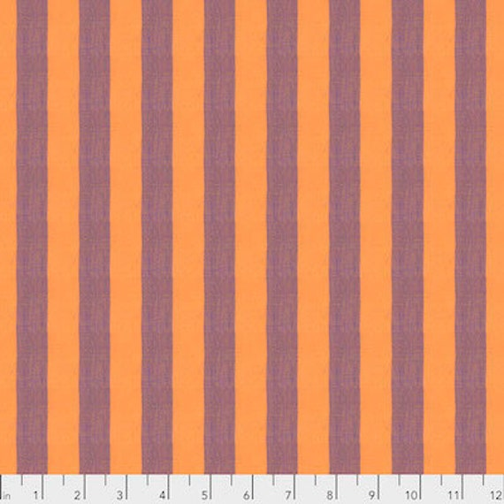Kaffe Fassett Shot Cotton Stripes -  Fat Quarter of Cantaloupe in Wide Shot Cotton Stripe