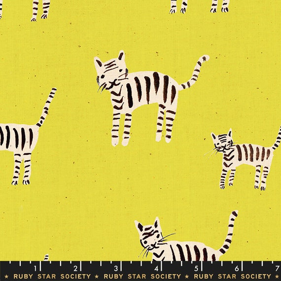 Darlings -- Tigers in Citron (RS5021-18) by Ruby Star Society for Moda -- Fat Quarter