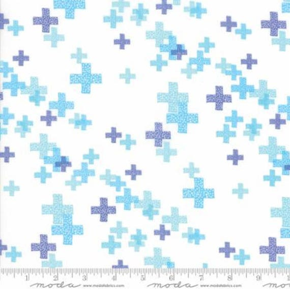 Moda Modern Backgrounds Colorbox in White Periwinkle (164413) by Zen Chic -- Fat Quarter