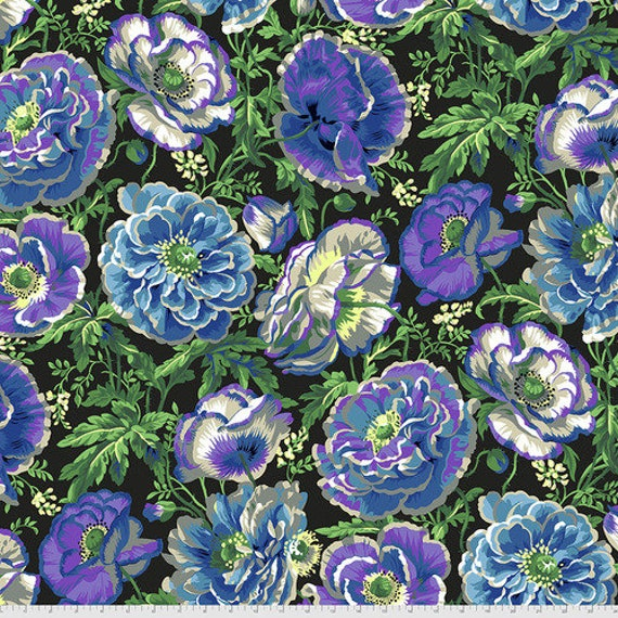 Kaffe Fassett Collective August 2021 -- Fat Quarter of Philip Jacobs Dorothy in Contrast