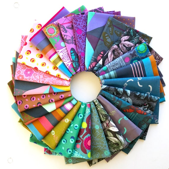 Passion Flower Fat Quarter Bundle of Anna Maria Horner Fabrics -- 24 in total
