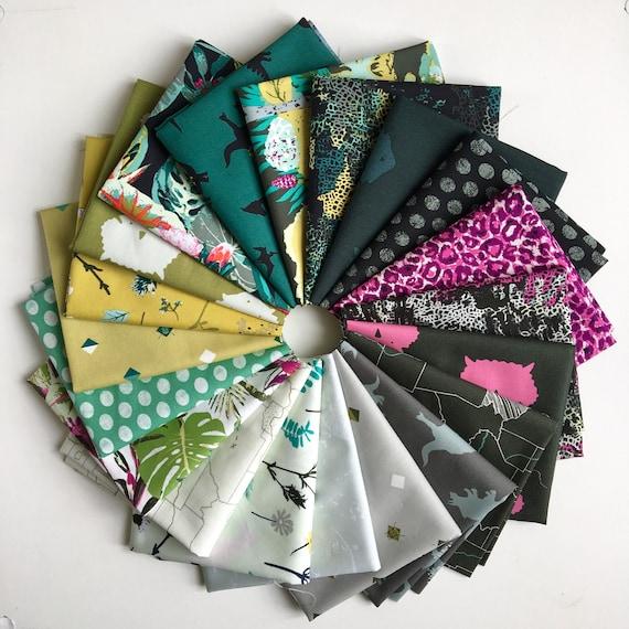 Fat Quarter Bundle of 20 Art Gallery Fabrics -- Esoterra by Katarina Rocella