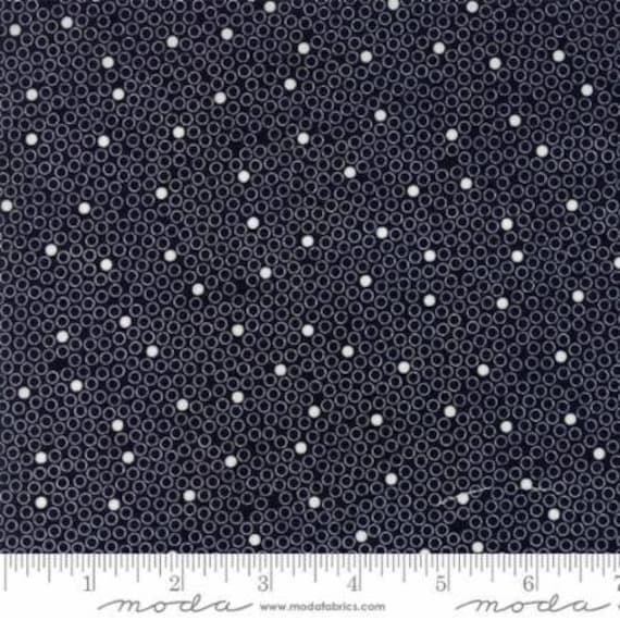 Moda Authentic Etc. -- Black Dot to Dot (567922) by Sweetwater -- Fat Quarter