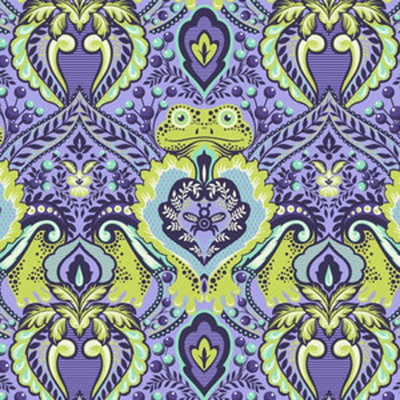 Fat Quarter Frog Prince in Orchid  - Tula Pink's All Stars Fabric for Free Spirit Fabrics
