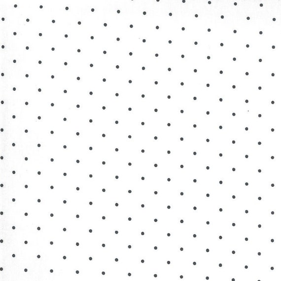 Sunday Stroll -- Sweet Dot in Navy on White (55226 11) by Bonnie and Camille for Moda -- Fat Quarter