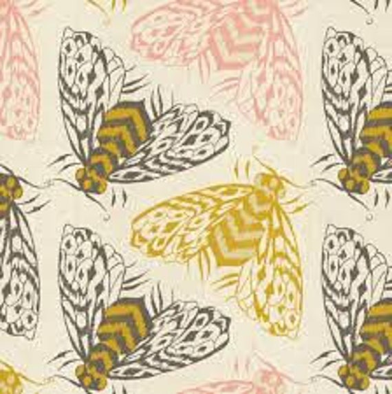 Magic Forest by Sarah Watts for Cotton and Steel - Fat Quarter- Bees in Yellow