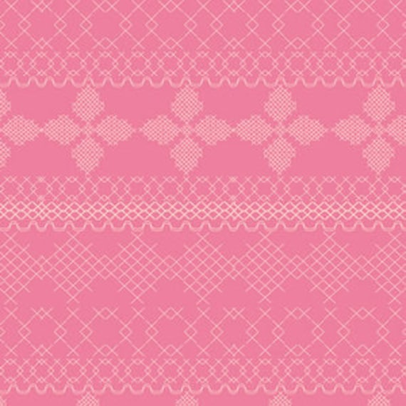 Wild Bloom by Bari J. Ackerman for Art Gallery Fabrics - Cross and Stitch in Candy - Fat Quarter