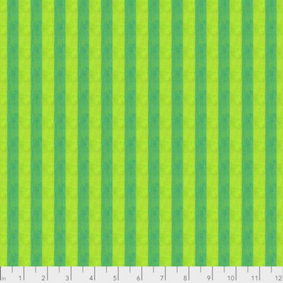 Kaffe Fassett Shot Cotton Stripes -  Fat Quarter of Gooseberry in Narrow Shot Cotton Stripe