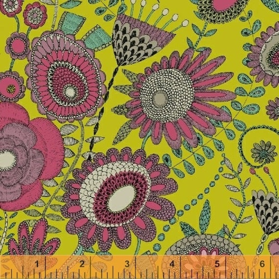 Fantasy by Sally Kelly for Windham Fabrics - Fat Quarter of 51288-3